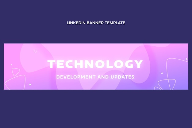 Tecnologia fluida astratta gradiente linkedin banner