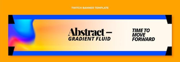 グラデーション抽象流体技術単収縮バナー