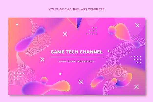 グラデーション抽象流体技術youtubeチャンネル