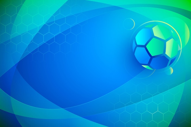 Gradient abstract football background