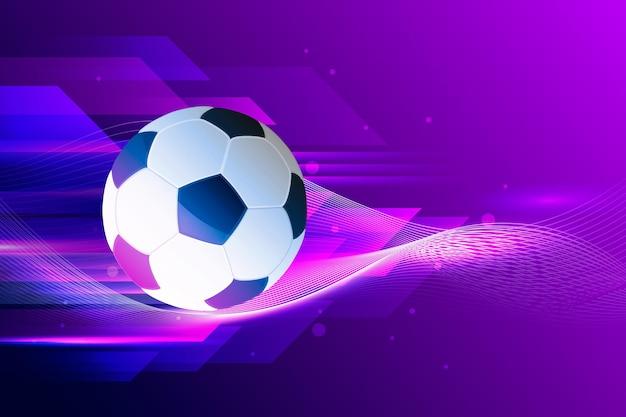 グラデーションの抽象的なサッカーの背景