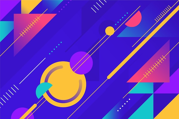 Gradient abstract geometric background