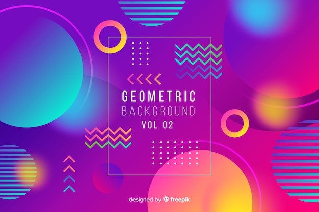 Gradient abstract geometric shapes background