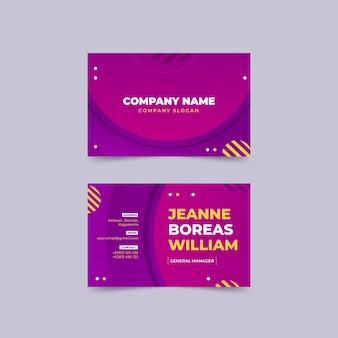 Gradient abstract horizontal business cards