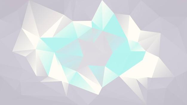 グラデーションの抽象的な水平三角形の背景。ビジネスプレゼンテーション用の灰色とターコイズ色の多角形の背景。トレンディな幾何学的な抽象的なバナー。共同チラシデザイン。モザイクスタイル。