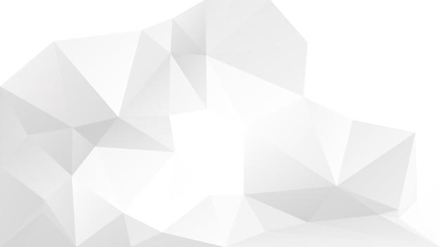 Градиент абстрактный фон горизонтальный треугольник. полигональные фон серого цвета для бизнес-презентации. модный геометрический абстрактный баннер. флаер концепции технологии. мозаичный стиль.
