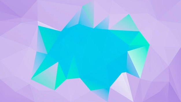 グラデーションの抽象的な水平三角形の背景。ビジネスプレゼンテーション用の紫とターコイズの多角形の背景。トレンディな幾何学的な抽象的なバナー。共同チラシデザイン。モザイクスタイル。