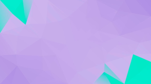 Gradient abstract horizontal triangle background. purple and turquoise polygonal backdrop for mobile application and web. trendy geometric abstract banner. technology concept flyer. mosaic style.