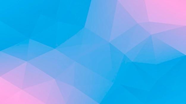 Градиент абстрактный фон горизонтальный треугольник. нежный розовый и синий многоугольный фон для мобильного приложения и интернета. модный геометрический абстрактный баннер. флаер концепции технологии. мозаичный стиль.