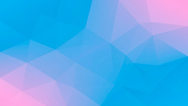 Gradient abstract horizontal triangle background. tender pink and blue polygonal backdrop for mobile application and web. trendy geometric abstract banner. technology concept flyer. mosaic style.