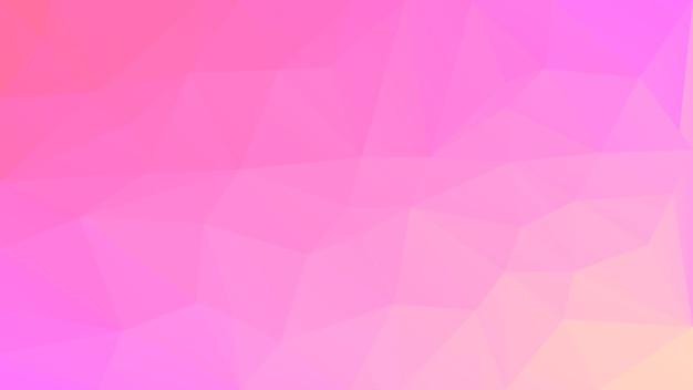 グラデーションの抽象的な水平三角形の背景。ビジネスプレゼンテーションのための柔らかいピンクのバラの多角形の背景。トレンディな幾何学的な抽象的なバナー。共同チラシデザイン。モザイクスタイル。