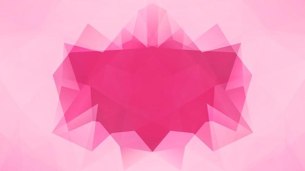 グラデーションの抽象的な水平三角形の背景。ビジネスプレゼンテーションのための柔らかいピンクのバラの多角形の背景。トレンディな幾何学的な抽象的なバナー。技術コンセプトチラシ。モザイクスタイル。