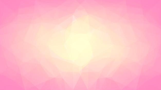 グラデーションの抽象的な水平三角形の背景。ビジネスプレゼンテーションのための暖かいピンクと黄色の多角形の背景。トレンディな幾何学的な抽象的なバナー。技術コンセプトチラシ。モザイクスタイル。