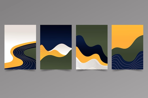Gradient abstract landscape cover collection