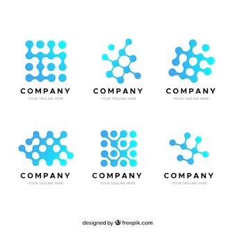 グラデーションの抽象的なロゴのコレクション
