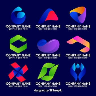 Gradient abstract logo collection