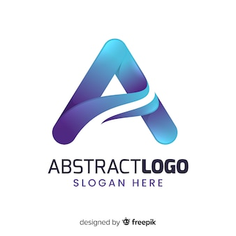 Gradient abstract logo template