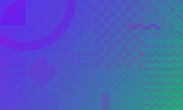 Градиент абстрактный фон в стиле мемфис