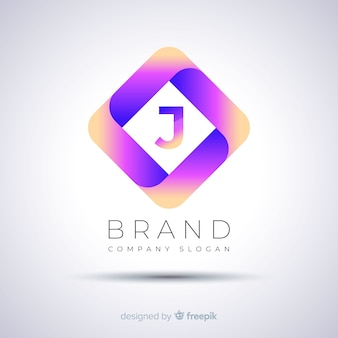 Gradient abstract polygonal logo template