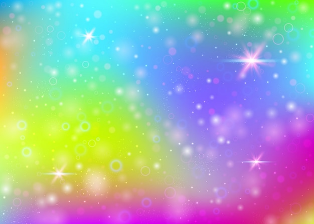 Gradient abstract rainbow background with sparkles