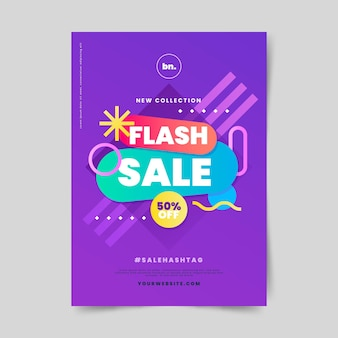 Gradient abstract sales poster