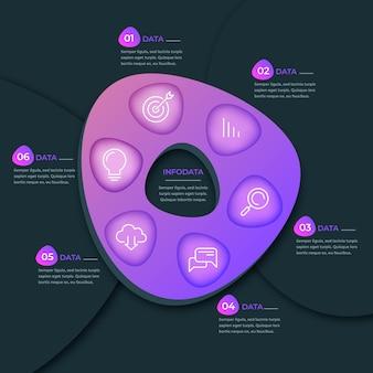 Градиент абстрактная форма инфографики