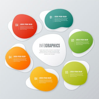Gradient abstract shape infographic