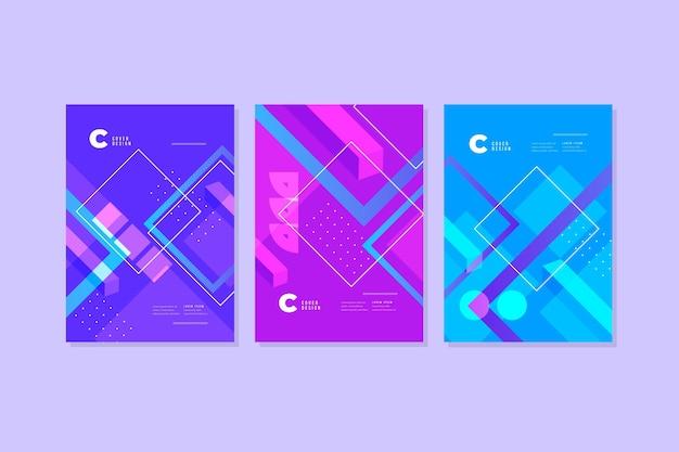 그라데이션 추상 모양 커버 컬렉션