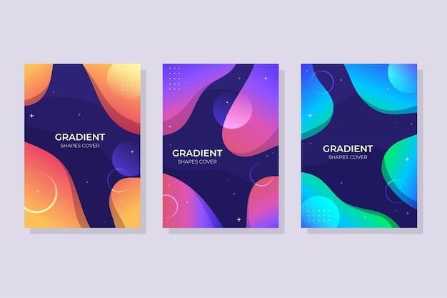 グラデーションの抽象的な形はコレクションをカバーします