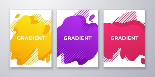 グラデーションの抽象的な形はパックをカバーします
