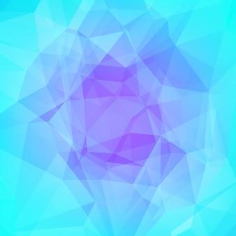 グラデーションの抽象的な正方形の三角形の背景。ビジネスプレゼンテーションのためのクールな氷色の多角形の背景。モバイルアプリケーションおよびweb用のソフトグラデーションカラートランジション。トレンディなカラフルなバナー。