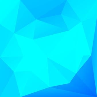 グラデーションの抽象的な正方形の三角形の背景。ビジネスプレゼンテーションのためのクールな氷色の多角形の背景。トレンディな幾何学的な抽象的なバナー。共同チラシデザイン。モザイクスタイル。
