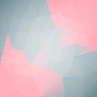 グラデーションの抽象的な正方形の三角形の背景。ビジネスプレゼンテーション用のピンクとグレーの多角形の背景。トレンディな幾何学的な抽象的なバナー。技術コンセプトチラシ。モザイクスタイル。