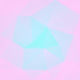 グラデーションの抽象的な正方形の三角形の背景。モバイルアプリケーションとウェブ用の柔らかいピンクとブルーの多角形の背景。トレンディな幾何学的な抽象的なバナー。共同チラシデザイン。モザイクスタイル。