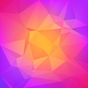 グラデーションの抽象的な正方形の三角形の背景。ビジネスプレゼンテーションのための鮮やかな虹の色とりどりの多角形の背景。アプリケーションとweb用のポジティブな明るいグラデーションカラートランジション。
