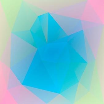 グラデーションの抽象的な正方形の三角形の背景。ビジネスプレゼンテーションのための鮮やかな虹の色とりどりの多角形の背景。トレンディな幾何学的な抽象的なバナー。共同チラシデザイン。モザイクスタイル。
