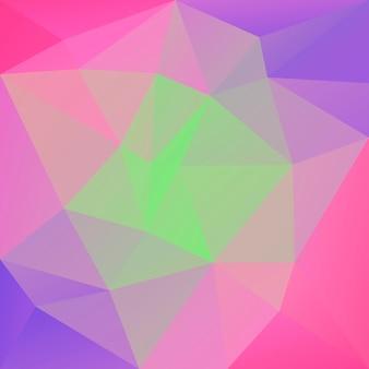 グラデーションの抽象的な正方形の三角形の背景。モバイルアプリケーションとweb用の鮮やかな虹色の多色の多角形の背景。トレンディな幾何学的な抽象的なバナー。技術コンセプトチラシ。モザイクスタイル。