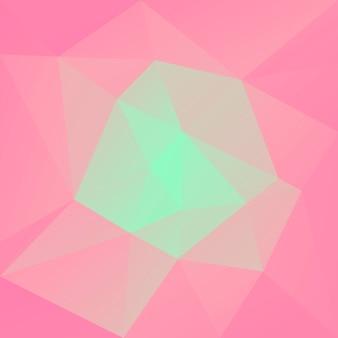 グラデーションの抽象的な正方形の三角形の背景。ビジネスプレゼンテーションのための暖かいピンクと黄色の多角形の背景。トレンディな幾何学的な抽象的なバナー。共同チラシデザイン。モザイクスタイル。