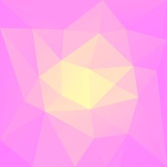 グラデーションの抽象的な正方形の三角形の背景。ビジネスプレゼンテーションのための暖かいピンクと黄色の多角形の背景。トレンディな幾何学的な抽象的なバナー。技術コンセプトチラシ。モザイクスタイル。