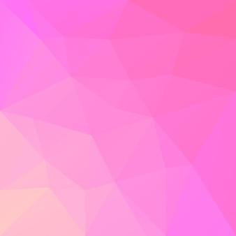 グラデーションの抽象的な正方形の三角形の背景。モバイルアプリケーションとweb用の暖かいピンクと黄色の多角形の背景。トレンディな幾何学的な抽象的なバナー。共同チラシデザイン。モザイクスタイル。