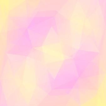 グラデーションの抽象的な正方形の三角形の背景。モバイルアプリケーションとweb用の暖かいピンクと黄色の多角形の背景。トレンディな幾何学的な抽象的なバナー。技術コンセプトチラシ。モザイクスタイル。