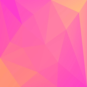 Gradient abstract square triangle background. warm pink and yellow polygonal backdrop for mobile application and web. trendy geometric abstract banner. corporative flyer design. mosaic style.