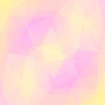 Gradient abstract square triangle background. warm pink and yellow polygonal backdrop for mobile application and web. trendy geometric abstract banner. technology concept flyer. mosaic style.