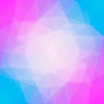 グラデーションの抽象的な正方形の三角形の背景。モバイルアプリケーションとウェブ用の黄色、ピンク、青の多角形の背景。トレンディな幾何学的な抽象的なバナー。技術コンセプトチラシ。モザイクスタイル。