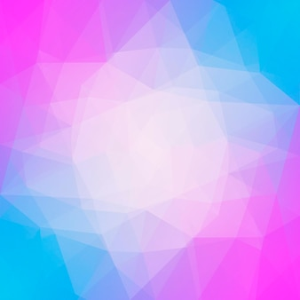 Gradient abstract square triangle background. yellow, pink and blue polygonal backdrop for mobile application and web. trendy geometric abstract banner. technology concept flyer. mosaic style.