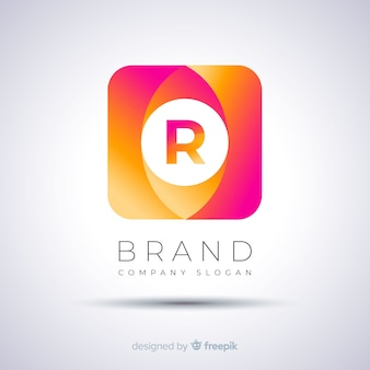 Gradient abstract squared logo template