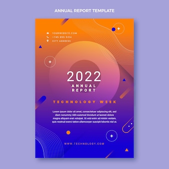 Gradient abstract technology annual report template