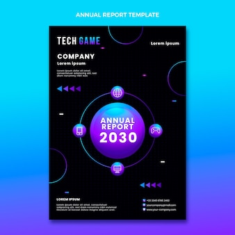 Rapporto annuale sulla tecnologia astratta sfumata