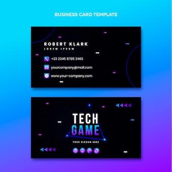 Визитная карточка градиента абстрактной технологии