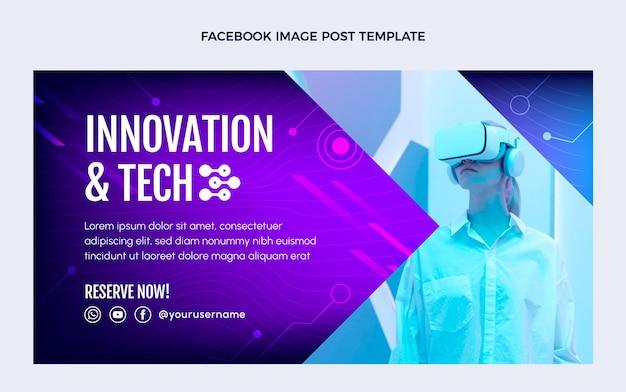 그라데이션 추상 기술 페이스 북 게시물